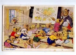 182507 Dressed TEDDY BEAR School By FB BAUMGARTEN Vintage PC - Baumgarten, F.