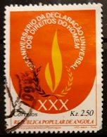 ANGOLA 1979 The 30th Anniversary Of The Declaration Of Human Rights. USADO - USED. - Angola