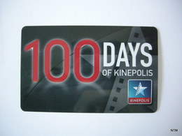 BELGIUM 2013-14. Kinepolis 100 Days Cards X2. For Access For Movies. Used. - Tickets - Vouchers