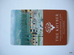 INDIA. Hotel Room Key Card. Hotel 'The Khyber' Himalayan Resort & Spa, Gulmarg, Kashmir, J & K - Otras Colecciones