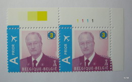 BELGIUM 2009. King Albert II - Koning Albert II. WORLD 3. AIR Prior. Block Of 2. SG 4227. MNH. - Bélgica