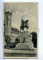 192212 Uruguay MONTOVIDEO Gaucho Monument TRAM Vintage Photo - Uruguay