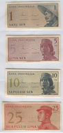 INDONESIA 90-93 1964 1, 5, 10, 25 Sen UNC - Indonesia