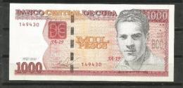 Cuba 2010 Banknotes $1000 Pesos Banknotes UNC - Cuba