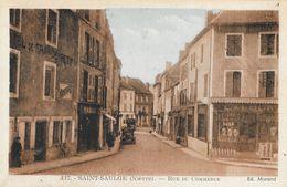 St Saint-Saulge (Nièvre) - Rue Du Commerce - Edition Morand - Carte N° 117 Colorisée,  Non Circulée - Other Municipalities
