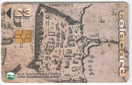 CYPRUS A-369 Chip Telecom - Map, Historic Town - Used - Cyprus