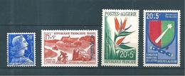Colonie Timbres D'Algérie De 1957/58  N°349 A 352   3 Neufs* Et  1 Oblitéré - Algerije (1924-1962)