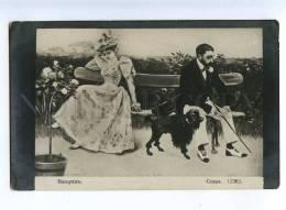 202359 Quarrel Lovers POODLE By VASQUEZ Vintage Postcard - Ilustradores & Fotógrafos