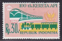 INDONESIA Trains Railway MNH** ERROR Color Shift - Treni