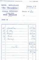 Ancienne Facture De L'Hôtel Restaurant Les Dauphins, Antoine Dégonon, Route D'Italie, Briançon (1974) - Sports & Tourisme