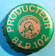 CAPSULE PRODUCTEUR 81 P 102 REPUBLIQUE FRANCAISE D.G.I. 100 CL ( DIAMETRE 32 MM GRAND MODELE ) - Capsules