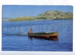 202072 Kazakhstan Ust-Kamenogorsk Oskemen Fishing Old Postcard - Kazakhstan