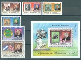 HONDURAS - 1979 - MNH/** - SIR ROWLAND HILL - Yv 647-652 BF 30 - Lot 16807 - Honduras