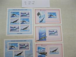 Congo (Kinshasa ) 2002 Marine Life  Whales  MICHEL  No.1749-1751 BL146-148 - Democratic Republic Of Congo (1997 - ...)