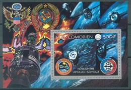 COMORES - 1976 - MNH/** - APOLLO SOYOUZ - Yv BF 1 - Lot 16808 - Comores (1975-...)