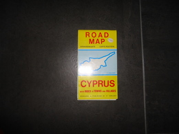 CARTE  ROUTIERE  ROAD MAP 1/250 000 CYPRUS WITH INDEX TO TOWNS AND VILLAGES   VOIR PHOTOS - Strassenkarten