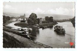 20561-LE-ALLEMAGNE-Hann.Münden-Zusamenfluss Mit Weserdampfer------------péniches - Allemagne