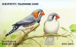 *COREA DEL SUD* -  Scheda Usata - Pájaros Cantores (Passeri)