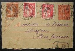 1933 Saint Maurin (Lot Et Garonne) Carte Entier Postal Recommandée Avec Complément, Pour Layrac - Marcophilie (Lettres)
