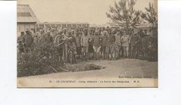 Rare CPA -  GUERRE 1914-18 -  Le Courneau -  La Sortie Des Tirailleurs - M.D - TIRAILLEURS SENEGALAIS - France