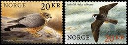 Norway 2017 Set 2 V MNH Self-adhesive Birds Merlin (falco Columbiarus) Hobby (falco Subbuteo) - Águilas & Aves De Presa