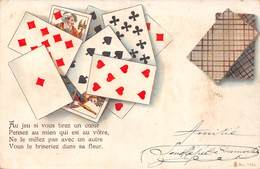 Au Jeu Si Vous Tirez Un Coeur Pensez Au Mien - Langage Des Cartes - Cartomancie Voyance - Cartes à Jouer