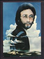 """CPSM GROUPE CHANSON ROCK THE BEATLES - TB Montage Photographie Surréaliste Psychédélique """"Lennon Remembers"""" P. Castle - Artistes"""