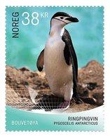 Norway 2018 1 V MNH Self-adhesive Birds Chinstrap Penguin (Pygoscelis Antarcticus) - Pingueinos