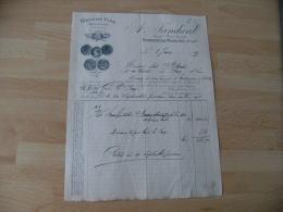 Bistrot 1895 Romaneche Thorins Jandard Grand Vin Medaille  Facture Illustre - France