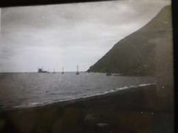 LA REUNION POSE DE CABLES TELEGRAPHES SOUS MARINS PHOTO PLAQUE DE VERRE STEREO 13 X 6 - Glass Slides