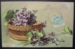 Aubagne à Barque-fuveau Sur Une Carte Bonne Fête, Voir Photos - Postmark Collection (Covers)