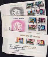 Cc0014 CONGO (Kinshasa) 1964, SG511-8a 10th Anniv Lovanium University, FDC - FDC