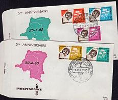 Cd0013 CONGO (Kinshasa) 1965, SG 581-5  5th Anniversary Independence,  FDC - FDC