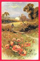 [DC11921] CPA - ALBA FIORI - Viaggiata 1926 - Old Postcard - Cartoline