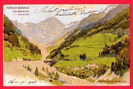 [DC11927] CPA - FERNET BRANCA MILANO - SEMPIONE BERISAL - PERFETTA - Viaggiata - Old Postcard - Reclame