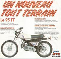 Cn  Doc :  Cycles  Motos  Le Nouveau Tout Terrain Le 95 Tt& 50 Leger  Motobecane  Bp Zoom - Motos