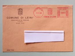 Stemmi, Affrancature Meccaniche, EMA, Meter, Comuni E Città, Leinì (TO) - Affrancature Meccaniche Rosse (EMA)