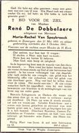 Devotie Doodsprentje Overlijden - Rene De Dobbelaere - Zomergem 1895 - 1941 - Décès