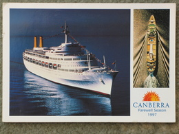 P+O CANBERRA 1997 FAREWELL SEASON - Steamers