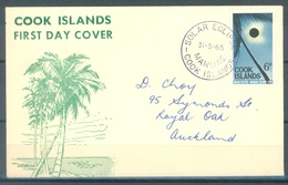 COOK  - 1965 - FDC - SOLAR ECLIPSE - Yv 100 - Lot 16813 - Cook