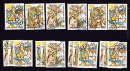 1990 Vaticano Vatican  S. ANGELA MERICI  6 Serie Di 3v. Usate Con Gomma USED - Used Stamps