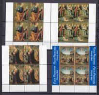 1999 Vaticano Vatican NATALE (con PRIORITARIA)  CHRISTMAS 4 Serie Di 4v. MNH** Quartina Bl.4 - Natale