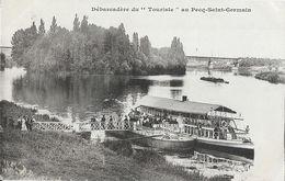 """Débarcadère Du """"Touriste"""" Au Pecq St Saint-Germain - Carte Non Circulée - Le Pecq"""