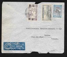Syrie Lettre Par Avion Damas Le 17/03/1949 à Thiers Les N°295 (R) Et 31 Et Poste Aérienne N°4  B/TB - Lettres & Documents