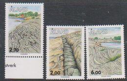 Aland 1993 Stone Formations 3v ** Mnh (38852A) - Aland