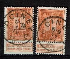 108 X 2  Obl  Ciney  +4  X 2  C Petit Ou Grand Dans L'obl. - 1912 Pellens
