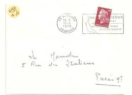 MORBIHAN - Dépt N° 56 = QUIBERON 1970 = Flamme à DROITE = SECAP Illustrée  ' PRESQU' ILE / PLAGES / COTE SAUVAGE' - Postmark Collection (Covers)