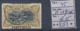 BELGIAN CONGO BOX1 TYPO A CHEVAL COB 45 USED - Congo Belga