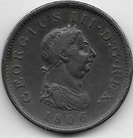 Grande Bretagne - Penny - 1806 - 1662-1816 : Anciennes Frappes Fin XVII° - Début XIX° S.