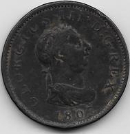 Grande Bretagne - Penny - 1807 - 1662-1816 : Anciennes Frappes Fin XVII° - Début XIX° S.